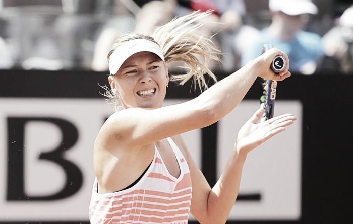WTA Roma, la carica di Maria Sharapova