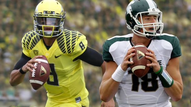 Michigan State Spartans - Oregon Ducks Live Score And Result Of 2014 College Football