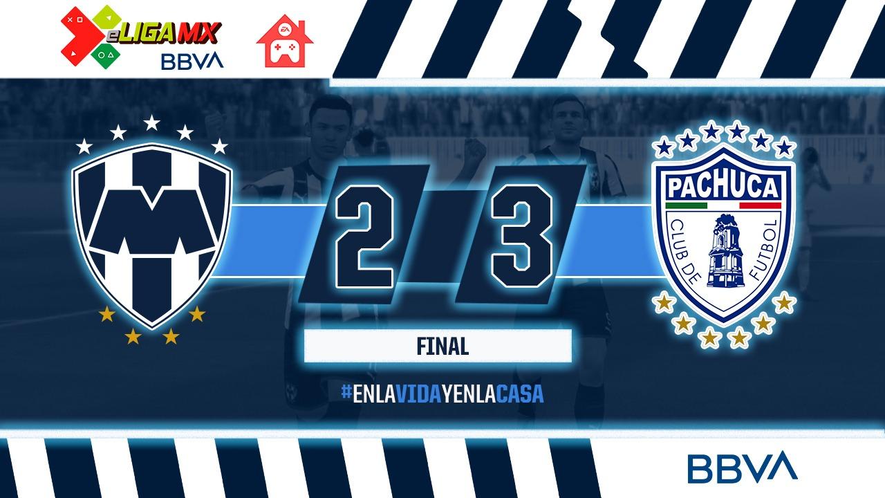 Pachuca es líder de la eLiga MX y elimina a Rayados
