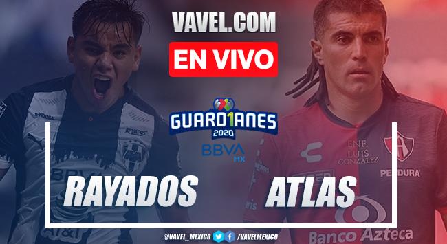 Goles y resumen: Rayados de Monterrey 1-1 Atlas en Liga MX Guard1anes 2020