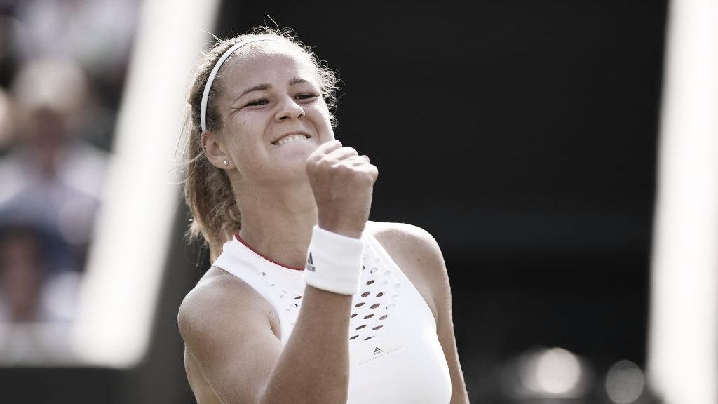 Em uma das partidas mais longas do torneio, Muchova bate Pliskova evai às quartas em Wimbledon