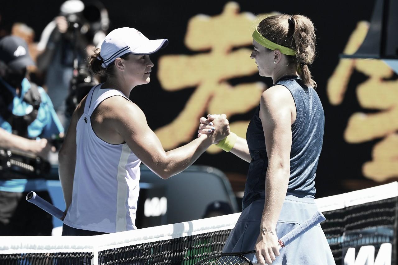 Muchova conquista grande virada sobre Barty e está nas semis do Australian Open