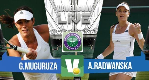 Live Muguruza - Radwanska, risultato semifinale Wimbledon 2015  (2-1)