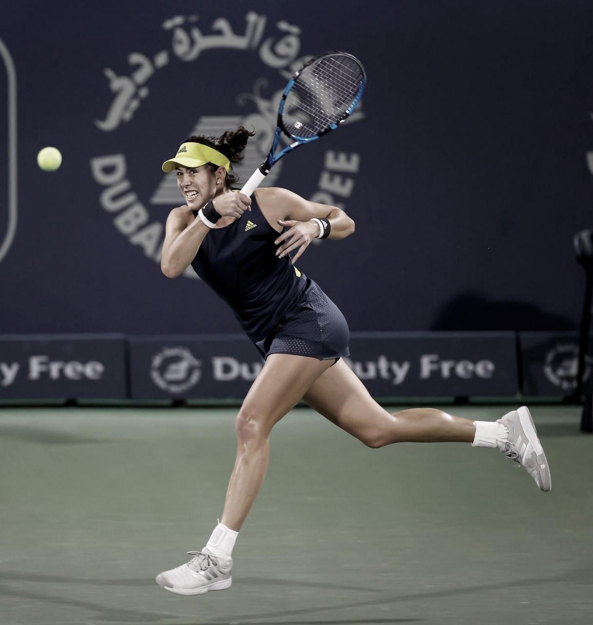 Muguruza desafía a la sorprendente Krejcikova, van por el título en Dubái