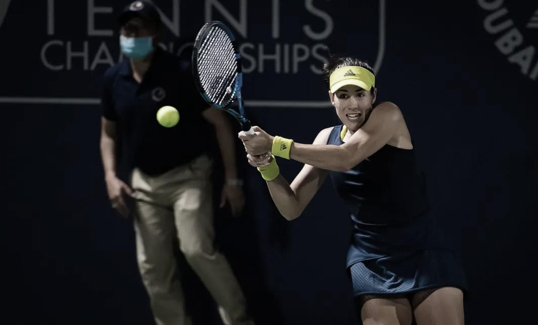 Muguruza elimina Anisimova e marca encontro com Swiatek em Dubai; Kvitova desiste