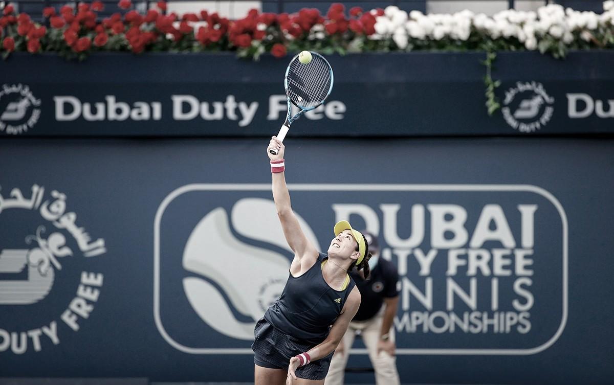 Muguruza prevalece contra Mertens em Dubai e vai à segunda final seguida