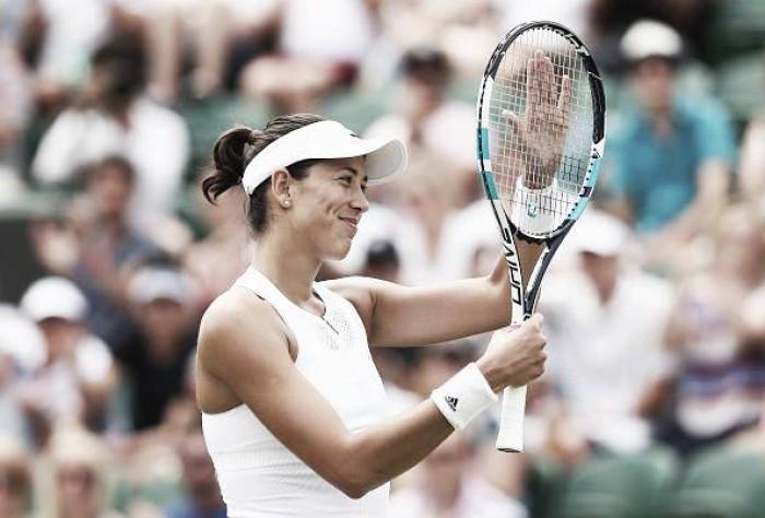 Wimbledon: Garbiñe Muguruza crushes Sorana Cirstea advancing to Manic Monday