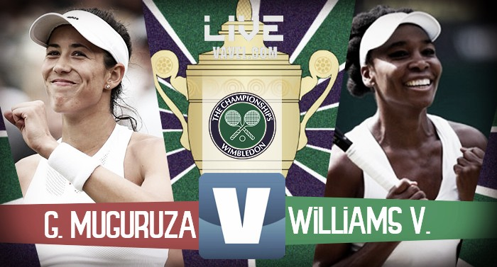 Risultato Garbine Muguruza - Venus Williams in diretta, LIVE Wimbledon 2017 (2-0)