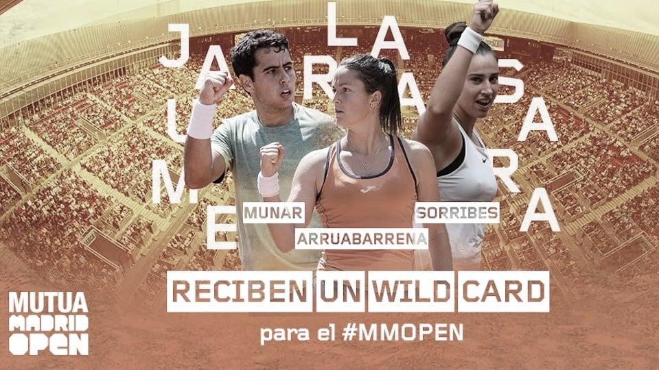 Munar, Sorribes y Arruabarrena, wild cards confirmadas para el Mutua Madrid Open