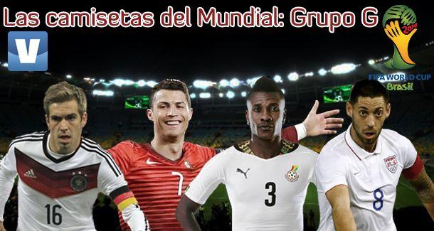 Las camisetas del Mundial de Brasil 2014: Grupo G