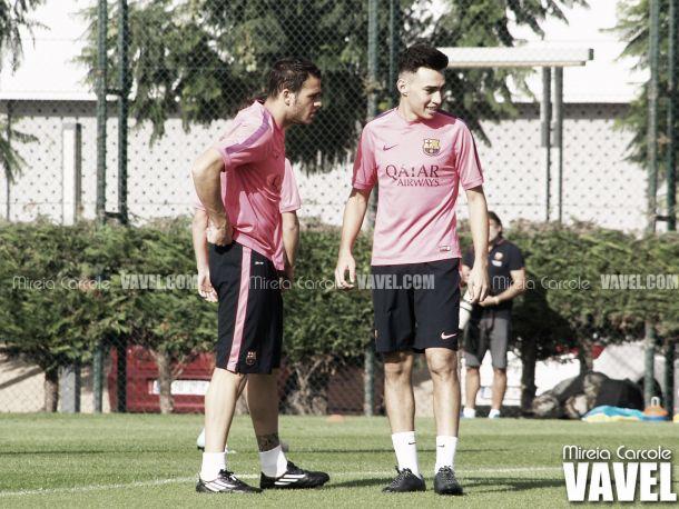 Entrenamiento del Barcelona con la mirada puesta en el Eibar