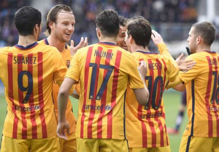 Liga, il Barcellona passeggia con l'Eibar: 0-4