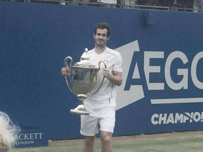 Atp Queen's, Murray rimonta Raonic e vince il torneo
