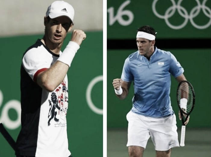 Andy Murray x Juan Martín del Potro: o campeão olímpico é desafiado pela surpresa argentina