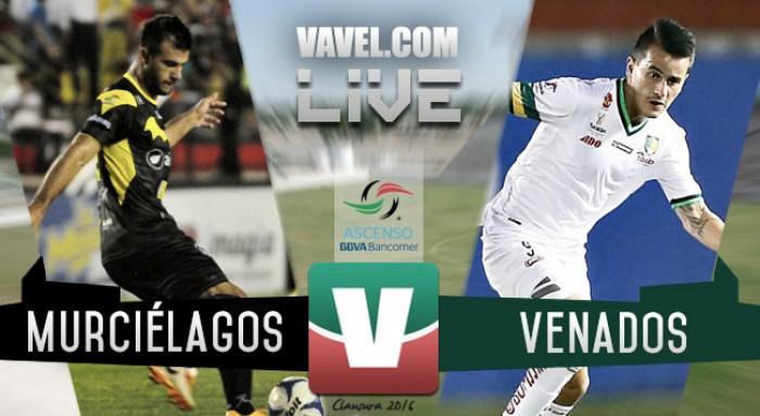 Resultado Murciélagos - Venados Mérida en Ascenso MX 2016 (0-1)