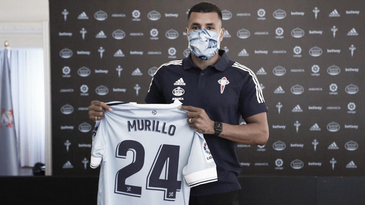 Murillo en la presentación (Foto: Real Club Celta de Vigo).