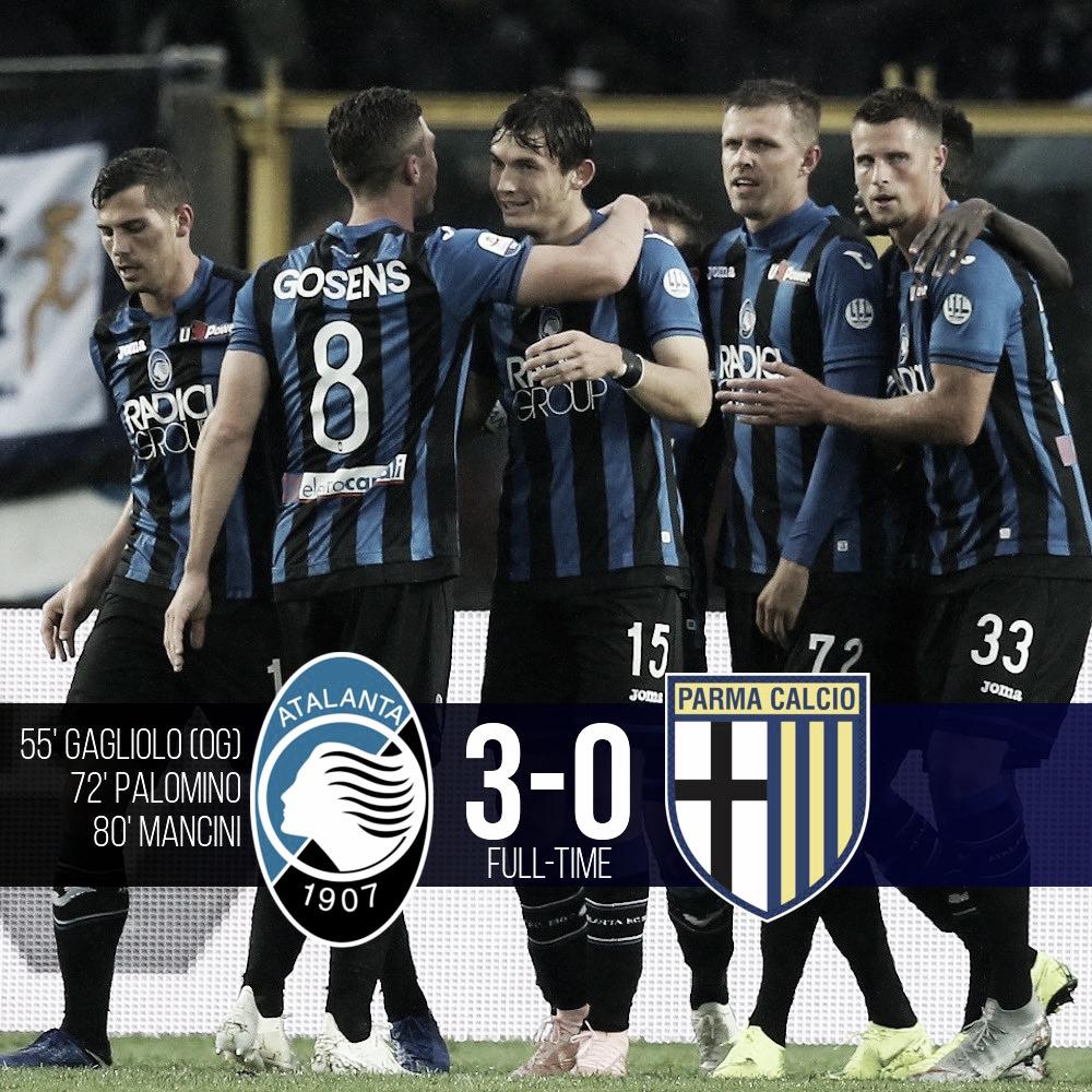 Serie A: tris dell'Atalanta contro il Parma