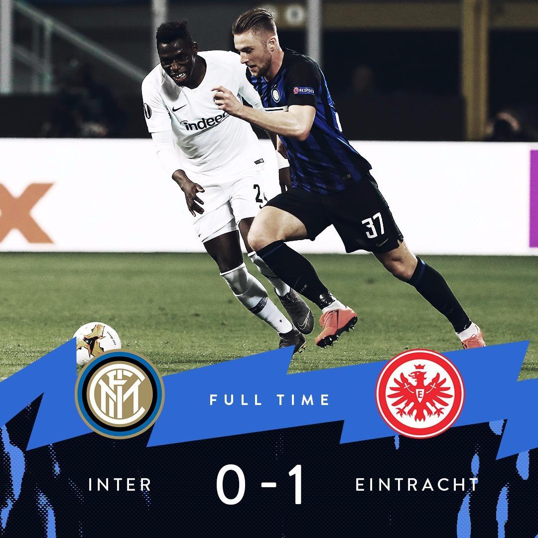 Europa League, l'Eintracht espugna San Siro e vola ai quarti