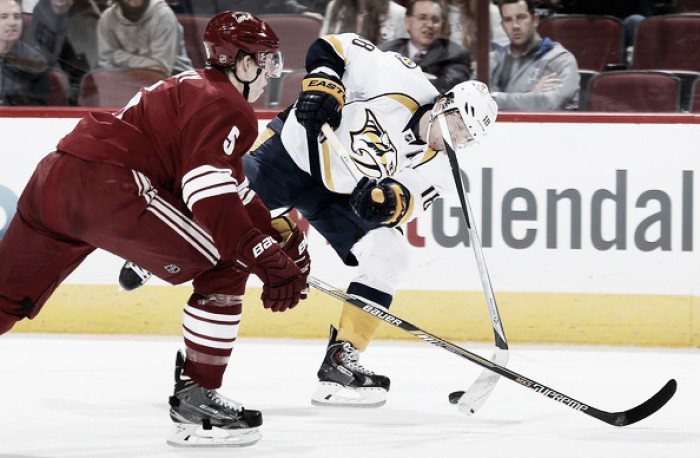 Arizona Coyotes hope winning ways can continue against Nashville Predators