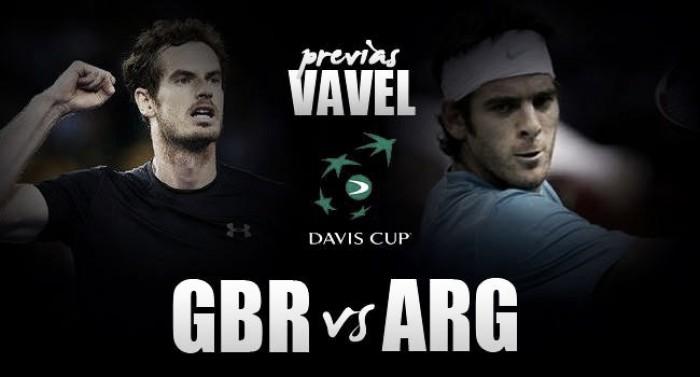 Copa Davis 2016. Gran Bretaña -Argentina: duelo de gigantes