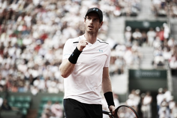 French Open: Andy Murray sees off Martin Klizan in a four-set battle
