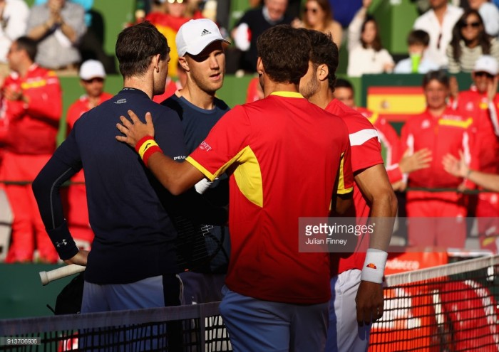 Spain take 2-1 lead in Davis Cup tie after Murray and Inglot lose pivotal doubles rubber