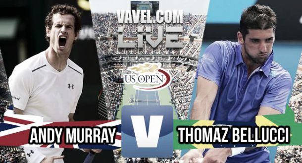 US Open 2015 - Andy Murray bt. Thomaz Bellucci: As it happened