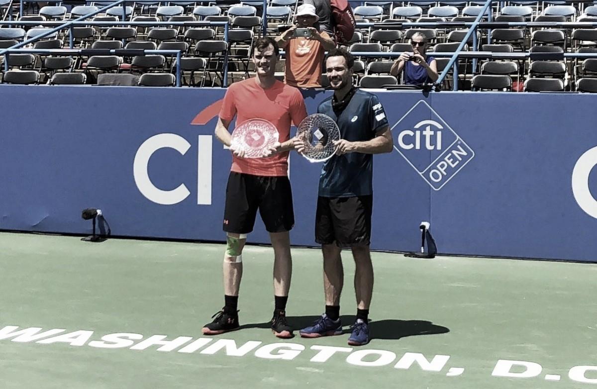 Após emocionante virada, Bruno Soares e Jamie Murray levam troféu no ATP 500 de Washington