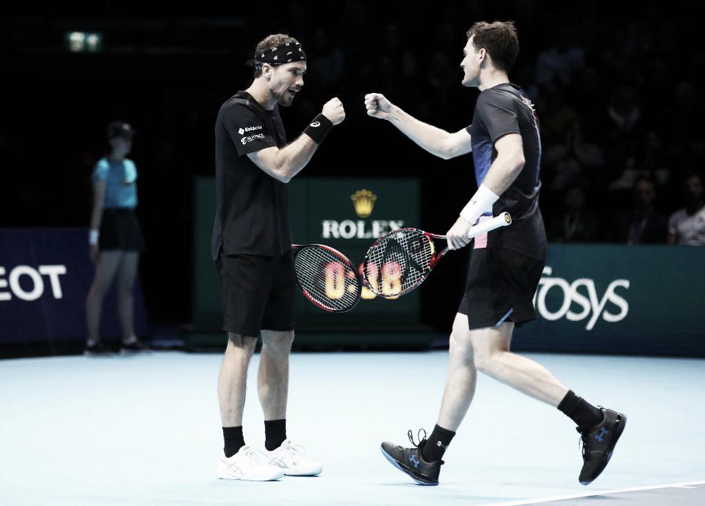 Murray/Soares estreiam com vitória apertada sobre Klaasen/Venus no ATP Finals
