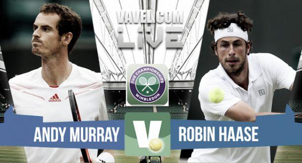 Resultado Andy Murray vs Robin Haase en Wimbledon 2015 (3-0)