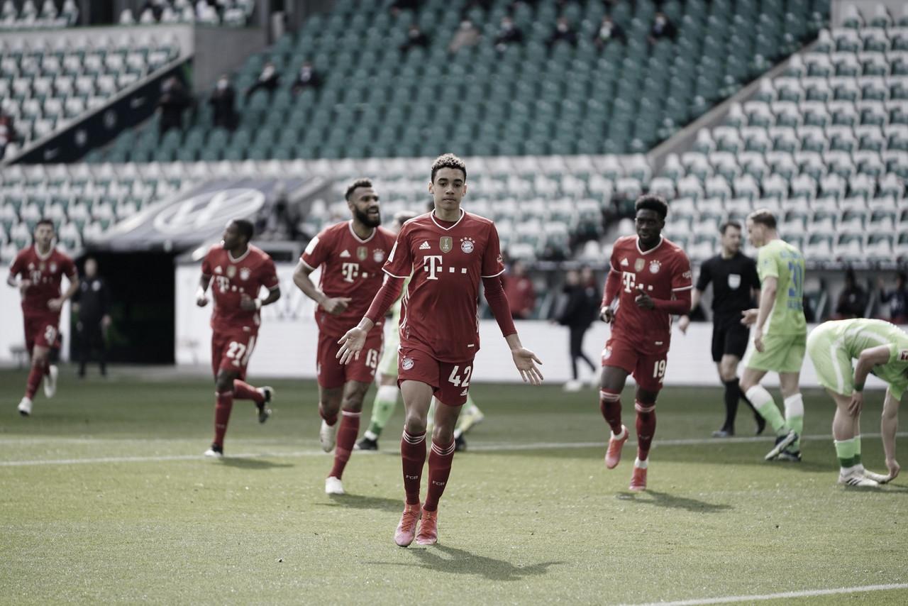 Musiala marca dois, Bayern vence Wolfsburg e volta a abrir vantagem na liderança