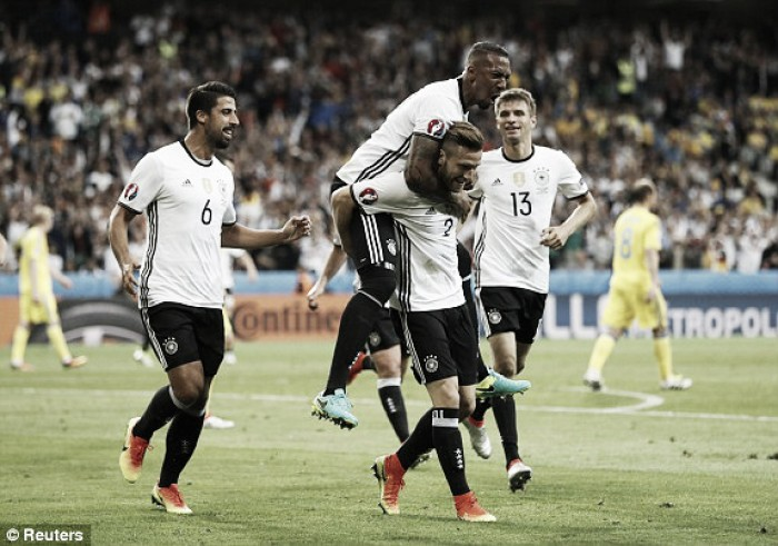 Germany 2-0 Ukraine: Mustafi and Schweinsteiger fire Germans to opening win
