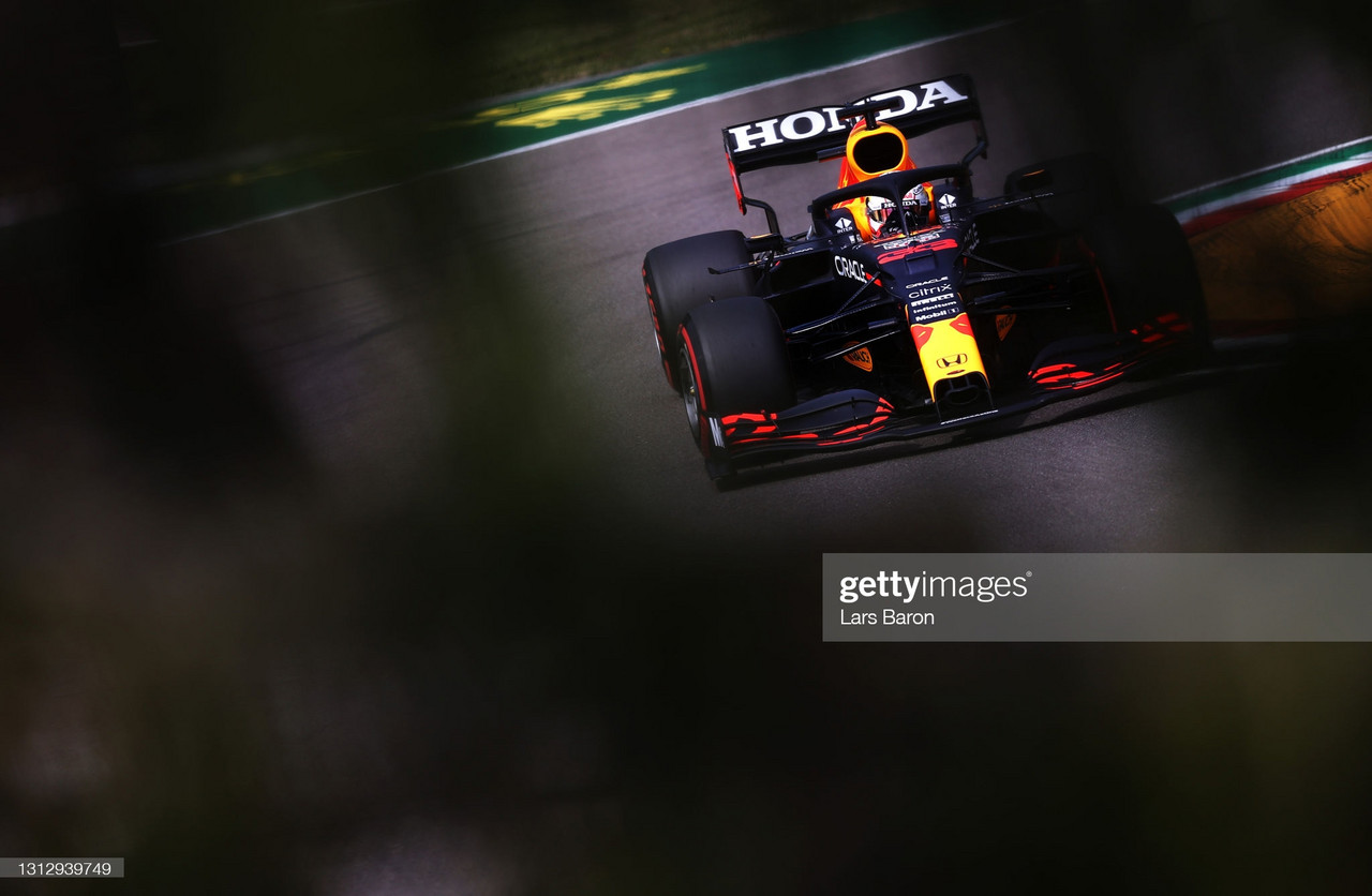 Max Verstappen takes a big step in FP3 - Imola GP 2021