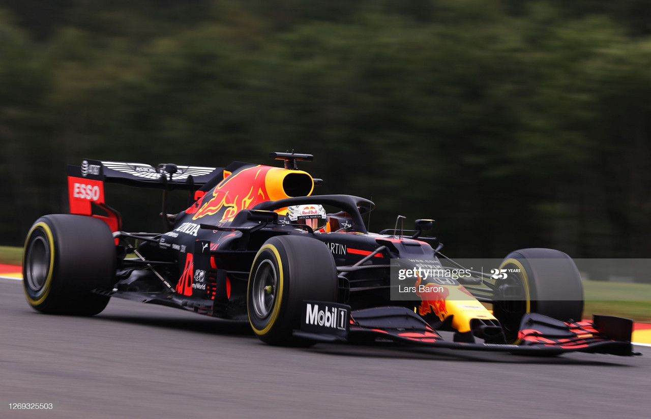 Max Verstappen breaks Mercedes stride topping FP2 in Spa