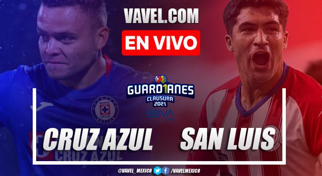 Goles y resumen del Cruz Azul 3-2 Atlético de San Luis en Liga MX 2021