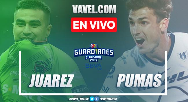Goles y resumen del Juárez 1-1 Pumas en Liga MX 2021