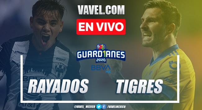 Resumen y goles del Monterrey 0-2 Tigres en Liga MX 2020