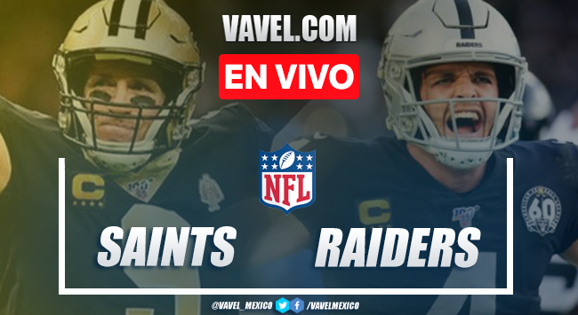 Resumen y anotaciones del New Orleans Saints 24-34 Las Vegas Raiders en NFL 2020