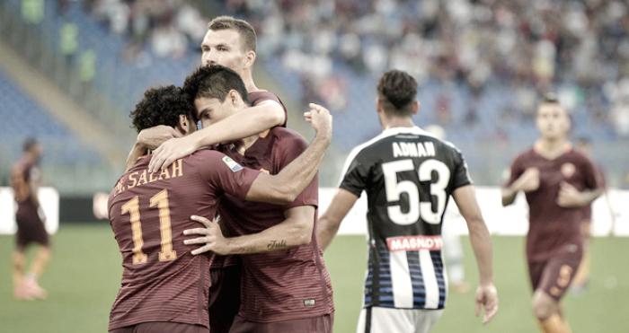 Dzeko, Salah y Perotti forman el tridente más goleador de Europa