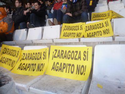 La afición del Zaragoza puede con Agapito