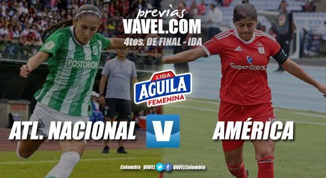 Previa Atlético Nacional vs América de Cali: elclásicoqueabrelosplay-offs de la Liga Femenina