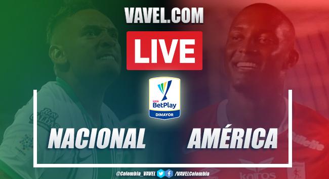 Resumen y goles: Nacional vs América (2-2) por Liga BetPlay