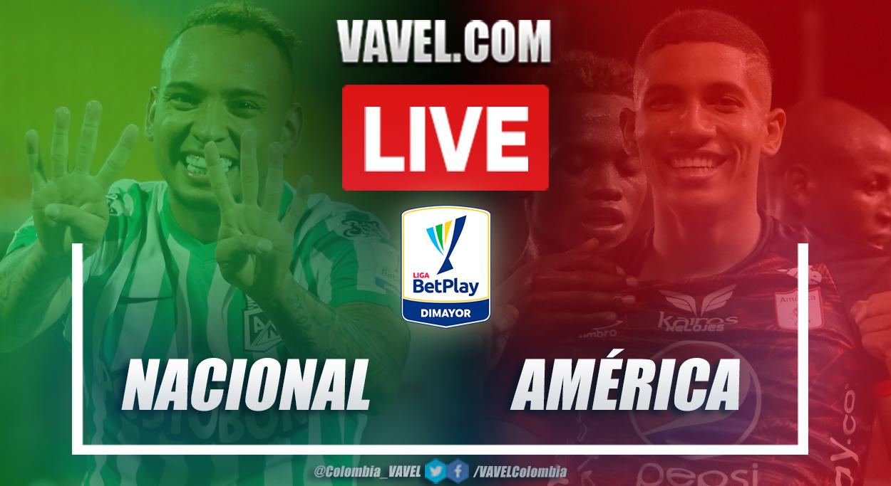 Resumen Nacional vs América (2-2) en la fecha 8 por Liga BetPlay 2021-I