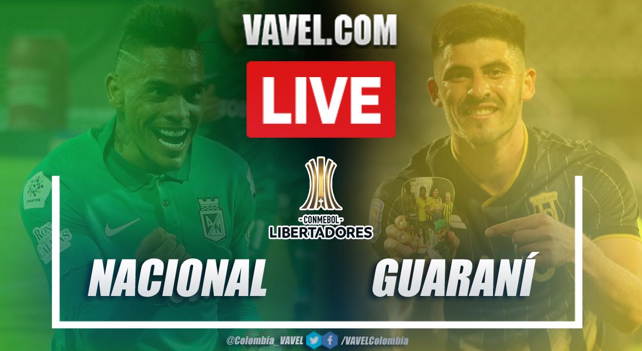 Resumen Nacional vs Guaraní (3-0) en vuelta de fase 2 por Copa Libertadores 2021