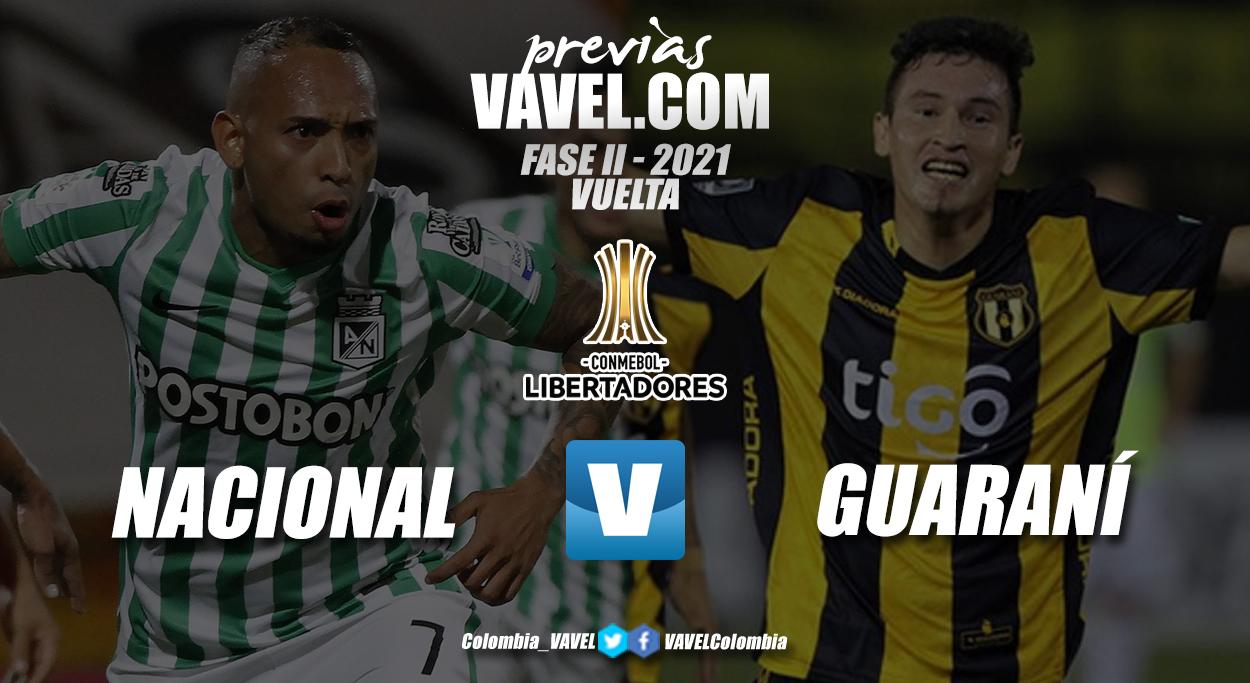 Previa Atlético Nacional vs Club Guaraní: a definir la clasificación en el Atanasio