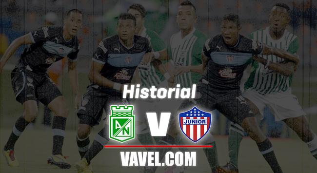 Historial entre Atlético Nacional y Junior de Barranquilla