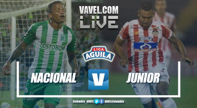 Resultado Nacional vs Junior por la Liga Águila 2018-II (1-0)