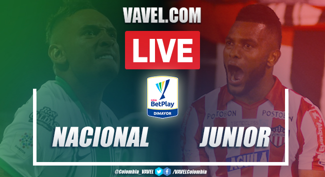 Resumen: Nacional vs Junior (2-2) por Liga BetPlay