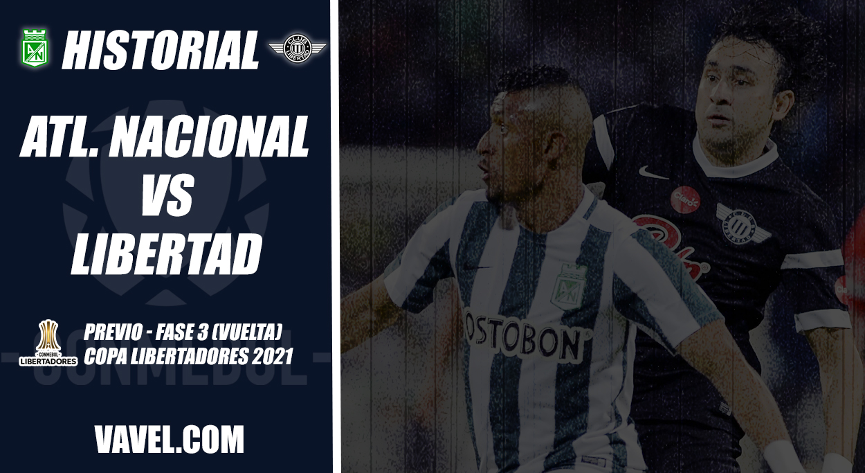 Historial Atlético Nacional vs Club Libertad: favorabilidad en casa para el 'verdolaga'