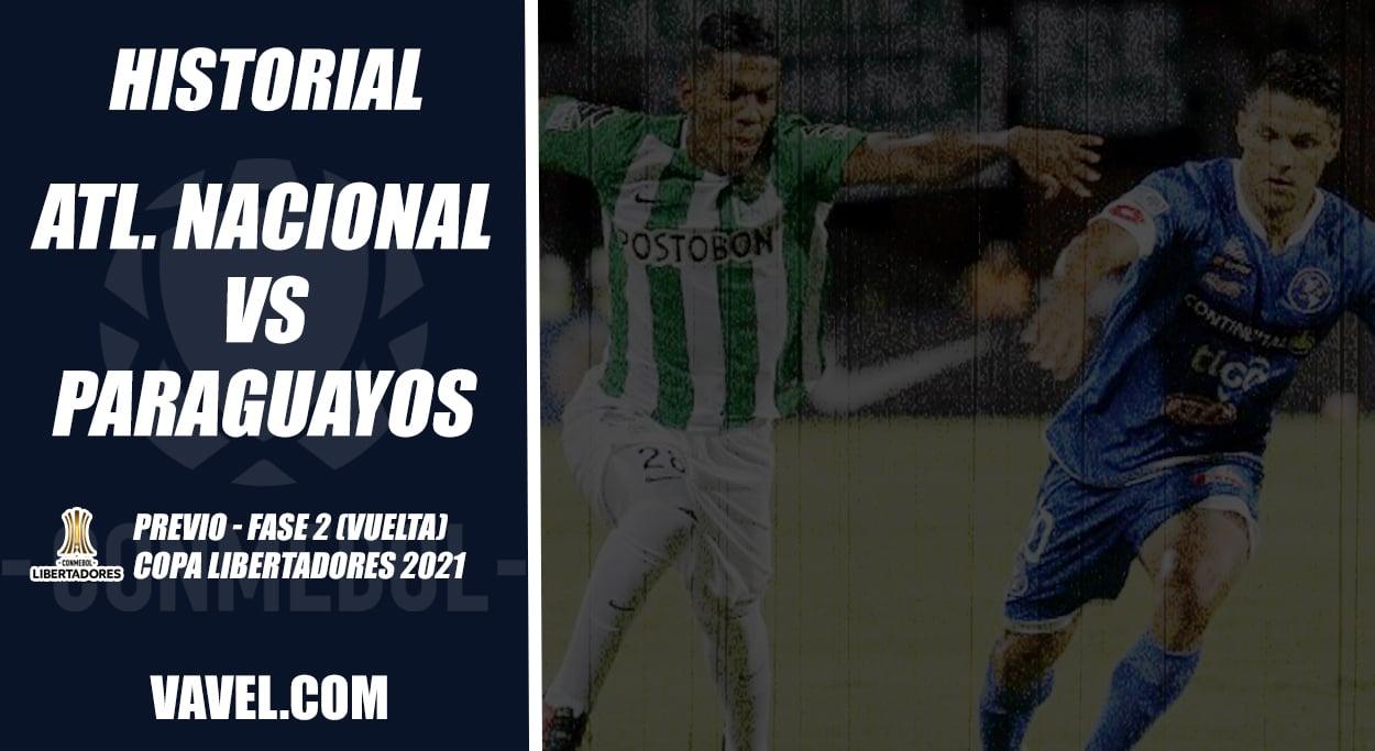 Historial de Atlético Nacional recibiendo equipos paraguayos